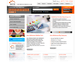 Medical lab website design