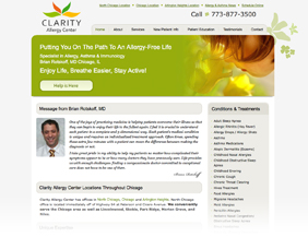 Allergist medical website design