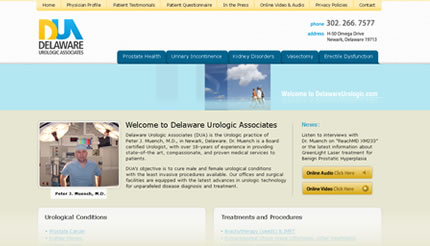 Urologist Website Design