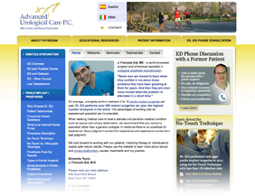 Urologist medical website design