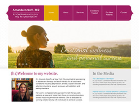 Psychotherapy website design NYC