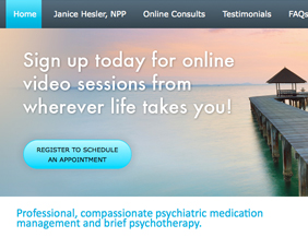 Psychiatry medical website design/telepsychiatry