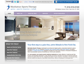 Sport therapy website design