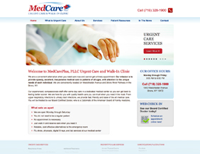 Urgent care website and logo design