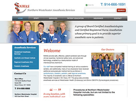 Anesthesiologist website design