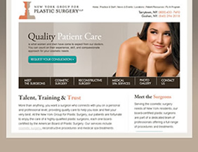 Plastic surgery website and logo design