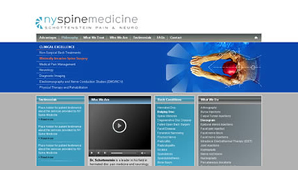 Pain management orthopedic website design NYC