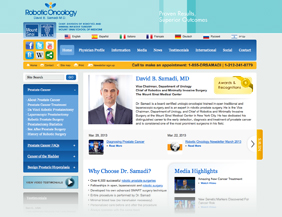 Urology/Oncology website design