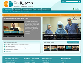 Urology & sexual health website design