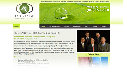 Medical (Ophthalmology) Website Design
