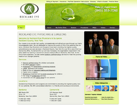 Ophthalmology/Eye care website design