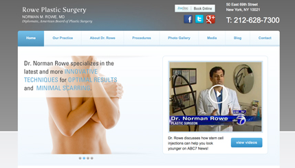 Plasic Surgery NY Website Design
