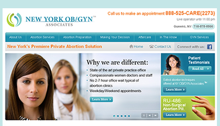 New York OB/GYN Website Design