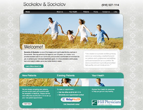 Primary care website and logo design