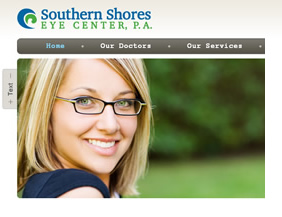 Eye doctor website and logo design