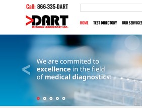 Medical laboratory website design