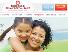 Dermatologist medical website design